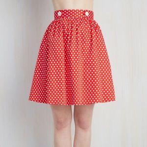 ModCloth polka dot skirt